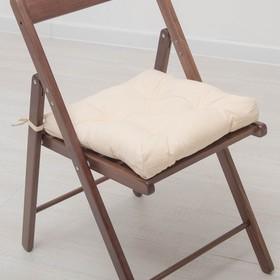 Набор подушек для стула 35х35 см 2шт, цв бежевый, бязь, холлофайбер