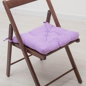 Set of pillows for the chair 35x35 cm 2pcs, color violet, calico, calico, hollofiber
