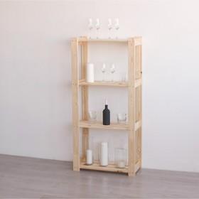 """Стеллаж деревянный """"Омега"""", 64×28×133см, регулируемый"""