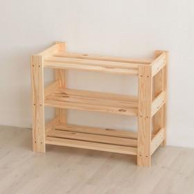 Стеллаж для обуви деревянный, 64×32×52см, 3 полки