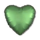 """Шар фольгированный 18"""" """"Сердце"""", сатин, emerald, 1 шт."""