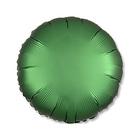 """Шар фольгированный 18"""" """"Круг"""", сатин, emerald, 1 шт."""