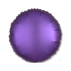 "Шар фольгированный 18"" ""Круг"", сатин, purple royale, 1 шт."