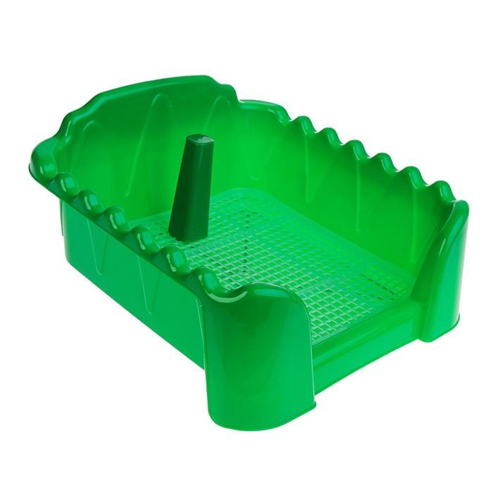 """Туалет """"Риф"""" со столбиком, для собак, 40 х 40 см, зеленый"""