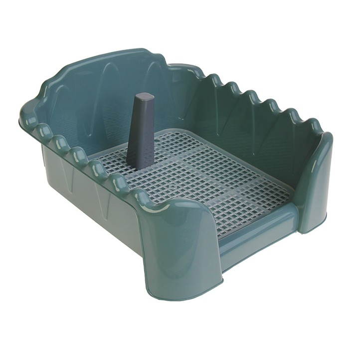 "Туалет ""Риф"" со столбиком, для собак, 40 х 40 см, серый"