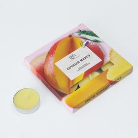 """Набор чайных свечей ароматизированных """"Сочный манго"""", 10гр, 9штук"""
