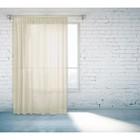 Тюль, размер 150х260 см, цвет светло-бежевый