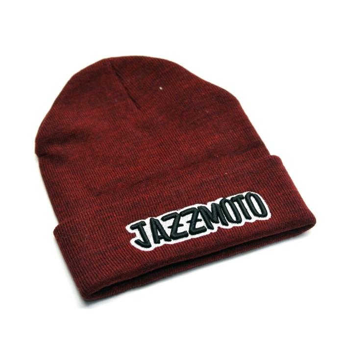 Шапка с подворотом Jazzmoto, бордовый