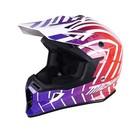 Шлем кросс MICHIRU МС 135 Hipnosis BR, фиолетово-красный, белый, размер M