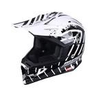 Шлем кросс MICHIRU МС 135 Hipnosis WB, черно-белый, размер M