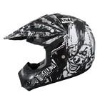 Шлем кросс TX-12 #12 ANARH, черно-белый, размер L