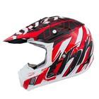 Шлем кросс TX-12 #13 NAZARD, красно-белый, размер L