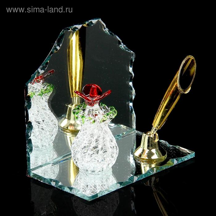 """Сувенир """"Букет в вазе"""" на зеркале с подставкой для ручек"""