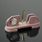 """Набор настольный """"Овальный"""", с подставкой под ручку, 21х7х10 см, креноид - фото 873639"""