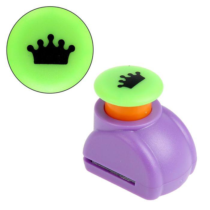 """Дырокол фигурный кнопка """"Корона"""" d=1,5 см, МИКС"""