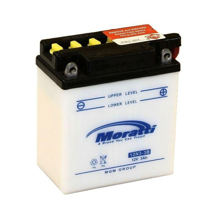 Аккумуляторная батарея Moratti 3 Ач 12N3-3B, обратная полярность