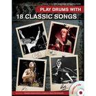 18 классических песен для ударных, 96 стр., язык: английский