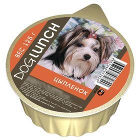"""Консервы """"Дог ланч"""" для собак, крем-суфле с цыпленком, ламист., 125 г."""