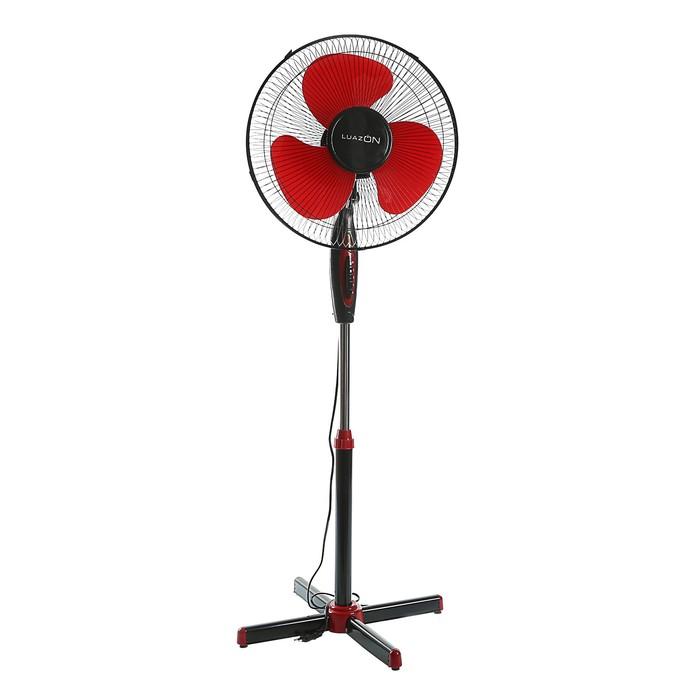Вентилятор LuazON LOF-01, напольный, 40 Вт, 40 см, 3 режима, черно-красный