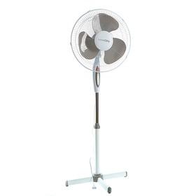 Вентилятор LuazON LOF-01, напольный, 40 Вт, 40 см, 3 режима, бело-серый Ош
