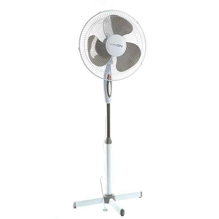 Вентилятор LuazON LOF-01, напольный, 40 Вт, 40 см, 3 режима, бело-серый