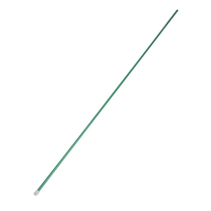 Колышек для подвязки растений, h = 100 см, d = 1 см, металл, зелёный