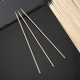 Шампуры деревянные GRIFON, берёза, 25 см, 100 шт в упаковке