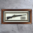 The gun in the frame, bullets, frame double pattern, 97х47 cm