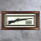 The gun in the frame, bullets, frame double pattern, 97х47 cm