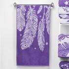 """Полотенце махровое """"Этель"""" Легкость, цвет ультрафиолет, 70х130 см, 100% хл, 420 г/м²"""