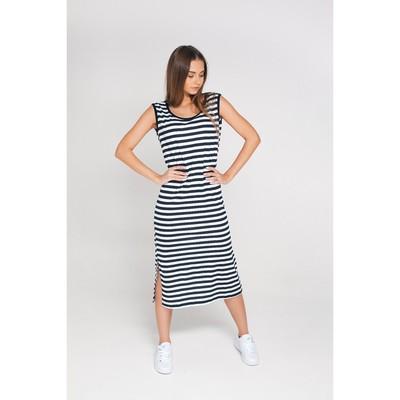 Платье женское MINAKU, размер 52, цвет тёмно-синяя полоска