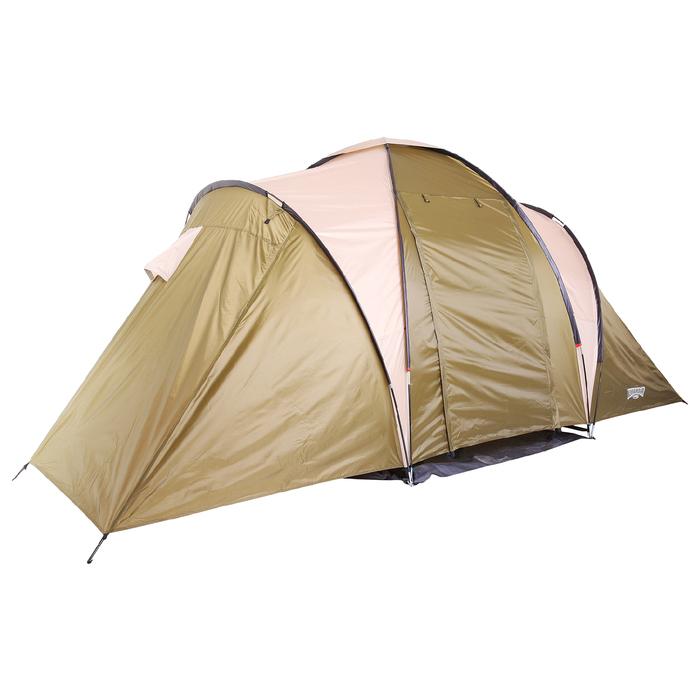Палатка туристическая MIRAGE, 4-х местная, цвет коричневый