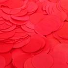 """Наполнитель для шара """"Конфетти круги"""" 2,5 см, тишью, 50 г, цвет красный"""