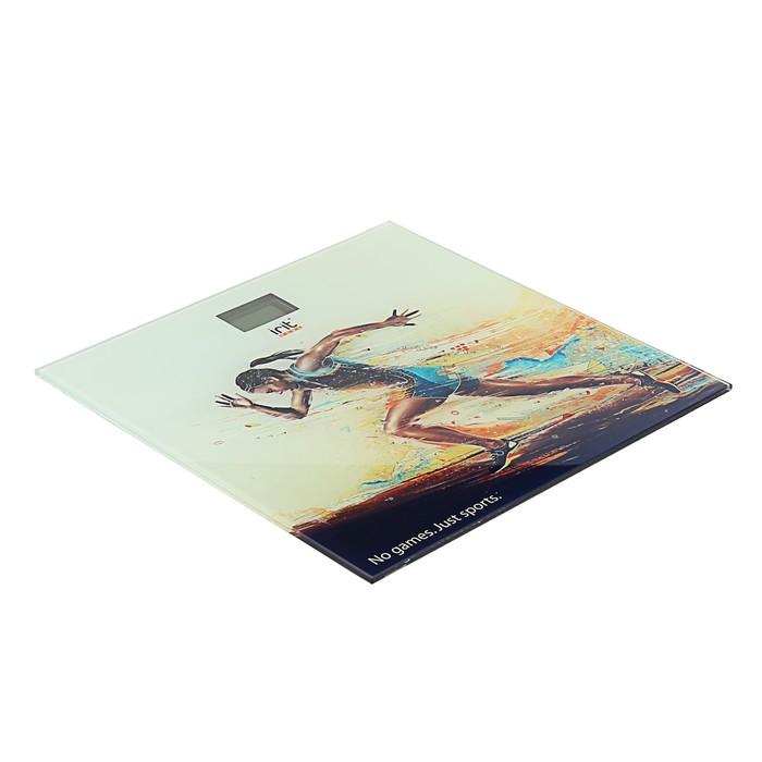 """Весы напольные Irit IR-7262, электронные, до 180 кг, рисунок """"бег"""""""