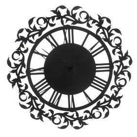 Wall clock, series: Interior, metal, Month, loft style, diameter 45 cm