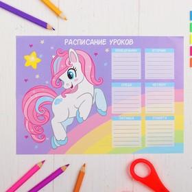 Расписание уроков 'Пони' А5 Ош