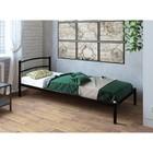 """Кровать """"Хостел"""", 200x80 cм, каркас чёрный"""