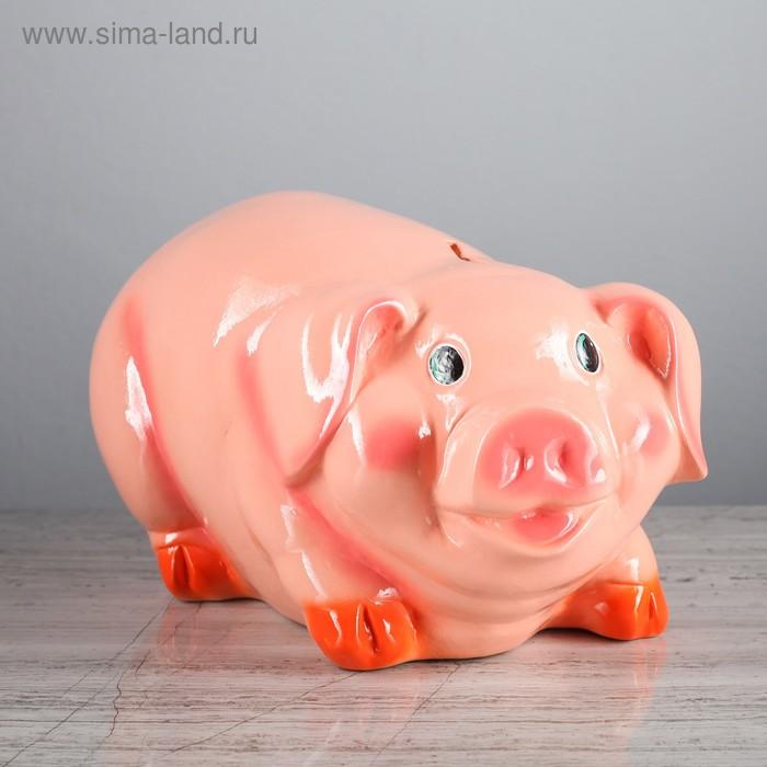 """Копилка """"Свинка Фантик"""" большая,  глянец"""