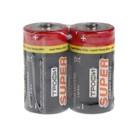 """Батарейка солевая """"Трофи"""" Super Heavy Duty, С, R14-2S, 1.5В, спайка, 2 шт."""