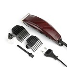 Машинка для стрижки WILLMARK WHC 9202, 7 Вт, 4 насадки, коричневая