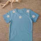 """Светоотражающая наклейка """"Звезда"""", 5*5см, цвет серый"""