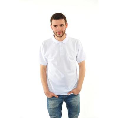 Футболка поло мужская арт.PM0110301031StandartL, цвет белый, р-р 50-52 (XL)