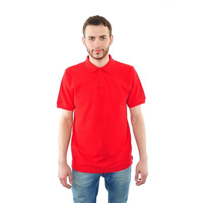 Футболка поло мужская арт.PM0110301031StandartL, цвет красный, р-р 54 (XXXL)