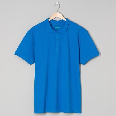 Футболка поло мужская арт.PM0110301031StandartL, цвет синий, р-р 48-50 (L)