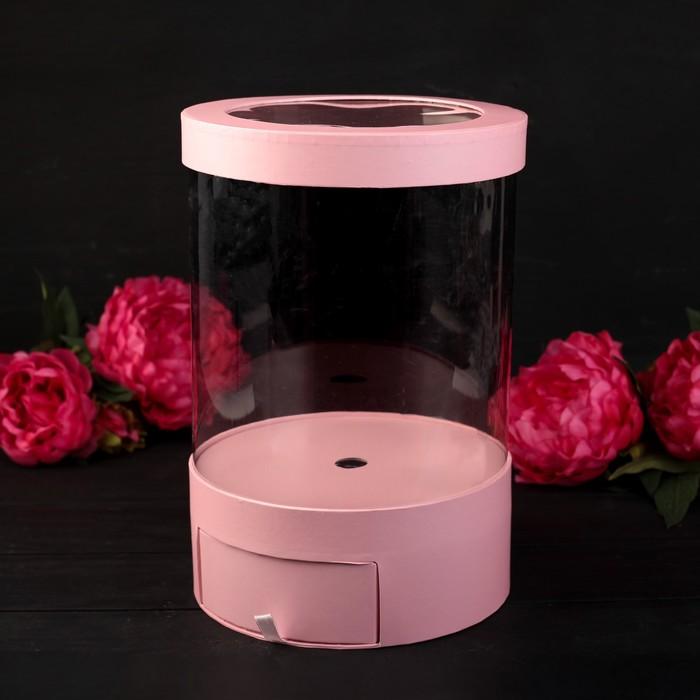 Коробка подарочная, розовый, 20 х 20 х 32,5 см - фото 8877740