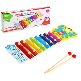 "Toy musical Glockenspiel ""Bright butterfly"", 8 colors"
