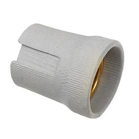Патрон керамический Ecola base, Е27, белый