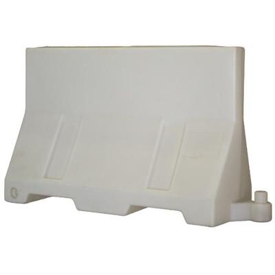 Дорожный блок парапетного типа, 1,2м, водоналивной, белый, ГОСТ