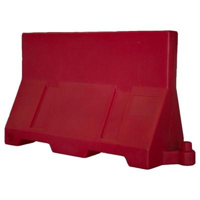 Дорожный блок парапетного типа, 1,2м, водоналивной, красный, ГОСТ