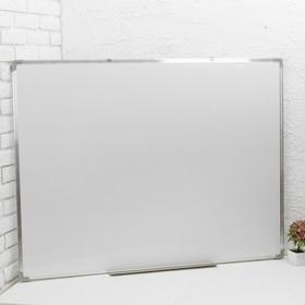 Доска магнитно-маркерная, двусторонняя, с полочкой, 90 × 120 см